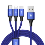USB data kabal BASEUS RAPID 3u1 micro / lightning / Type C 1.2m