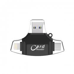 Čitač kartica SD microSD na Type C Lightning USB