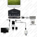 HDTV Adapter i OTG Card Reader na Galaxy S3 S4 Note2 Note3 MicroUSB