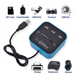 USB hub I čitac kartica 2u1