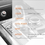 Auto punjač LDNIO C407Q 2xUSB 5V/4.0A Fast Charger