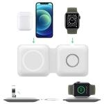 Bežični punjač Magsafe za iPhone i Apple Watch LFX-163 2u1