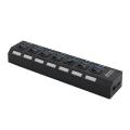 USB HUB 3.0 7 portova + prekidač A118 sa 1.2m kabla