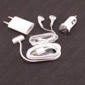 4u1 USB kabl, kućni - auto punjač - slušalice za Iphone 3 - 4