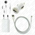 4u1 kućni + auto + slušalice + usb za iPhone 5, iPhone 6, iPhone 7