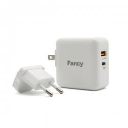Kućni punjač FANCY DK-29 3u1 FAST USB QC 3.0/PD 30W