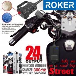 Adapter za punjenje 2.4A vodootporni za motor 3m