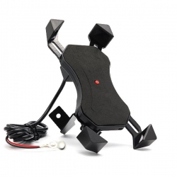 Držač za mobilni telefon za motor sa punjačem - za retrovizor
