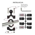 RAM Mounts - Zglob za cevnu montažu držača telefona